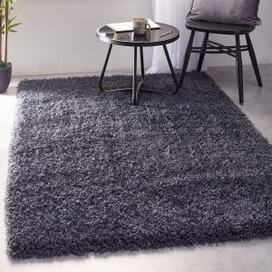 Chicago Iron Shaggy Polyester Rug by Origins