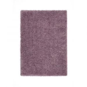 Chicago Lavender Polyester Plain Rug by Origins