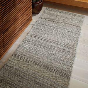 Chunky Knit Grey Wool Runner by Origins