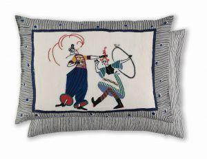 Circus Day Indigo WYC00147X Cushion by William Yeoward