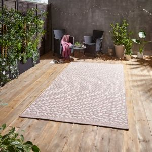 Coast A055 Rose Cream Outdoor Rug by Think Rugs