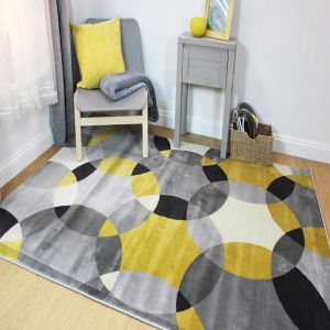 Cocktail Cosmo Grey/Ochre Rug by Flair Rugs