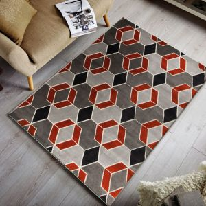 Cocktail Maitai Grey/Terracotta Rug by Flair Rugs