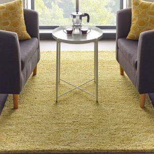 Country Tweed Autumn Gold Plain Wool Rug by Origins