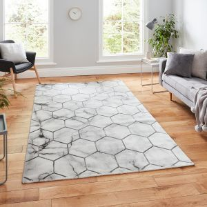 Craft NG719 Grey Silver Geometric Rug by Think Rugs