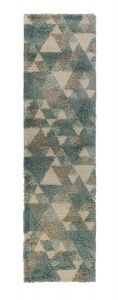 Dakari Nuru Blue/Cream/ Grey Runner by Flair Rugs