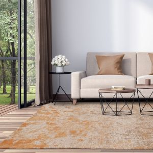 Dara Abstract Terracotta Rug by Asiatic