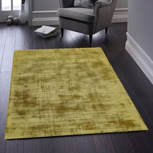 Delano Burnished Gold Plain Rug by Origins