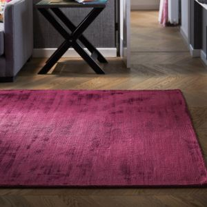 Delano Raspberry Plain Rug by Origins