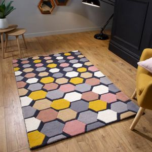 Descent Charcoal Wool Rug by Oriental Weavers