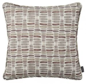 Desert Grey Geometric Cushion by Claire Gaudion