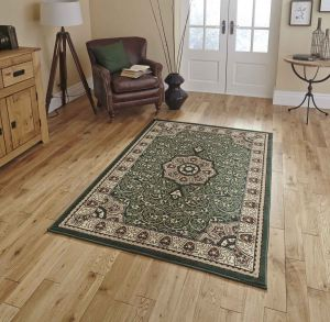 Diamond 4400 Green Traditional Rug By Think Rugs
