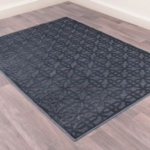 Dimensions 809 Blue Geometric Rug by Prestige