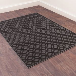 Dimensions 825 Sable Geometric Rug by Prestige