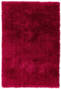 Diva Red Shiny Polyester Rug by Asiatic