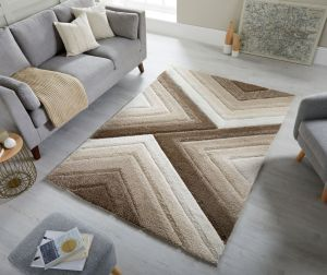 Dune Crater Natural Geometric Rug by Flair Rugs