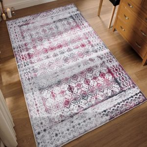 Easy Care Kilim Ivory Cherry Rug by Floorita