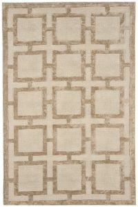Eaton Gold Geometric Rug by Katherine Carnaby