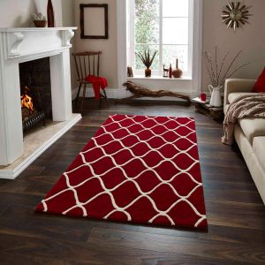 Elements EL-65 Red Wool Rug By Think Rugs