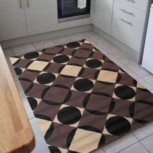 Element Carnaby Chocolate Rug by Flair Rugs