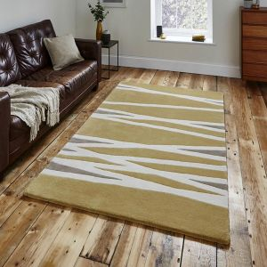 Elements EL-61 Yellow Wool Rug By Think Rugs