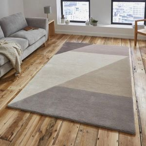 Elements EL-83 Beige/Peach Wool Rug By Think Rugs