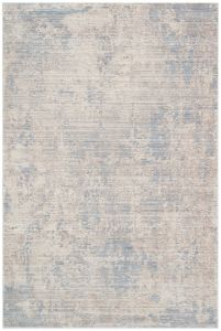 Essence ESSC02 Silver Blue Abstract Rug by Concept Looms