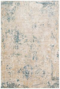 Essence ESSC04 Gold Teal Abstract Rug by Concept Looms