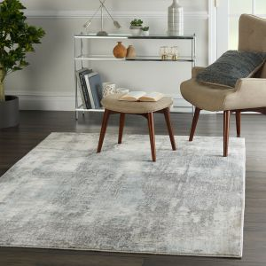Etchings ETC02 Grey Light Blue Rug by Nourison