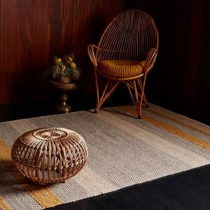 Fields Mustard Striped Rug By Asiatic