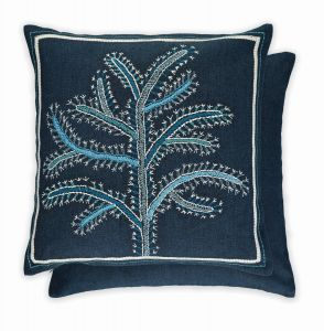 Fiorela Indigo WYC04716X Cushion by Wiliiam Yeoward