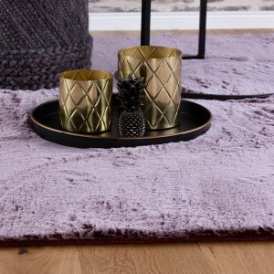 Flamenco FLA 425 Berry Shaggy Rug by Obsession
