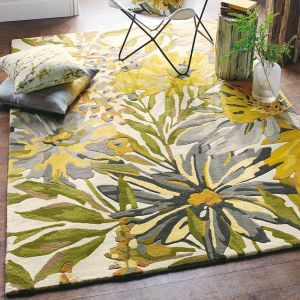 Floreale 44906 Maize Handtufted wool Rug by Harlequin