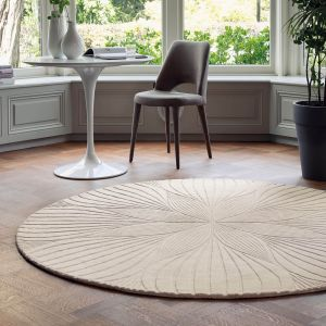 Folia 38301 Stone Hand Tufted Wool Circle Rug by Wedgwood