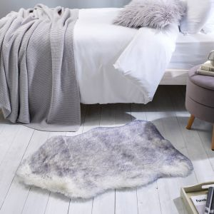 Freja Faux Fur Copenhagen Natural Shaggy Plain Rug by Flair Rugs