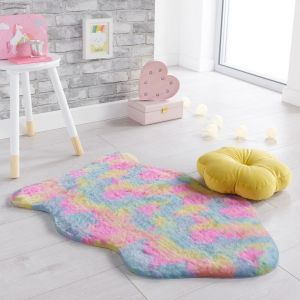 Fun Faux Fur Unicorn Multi Rug by Flair Rugs
