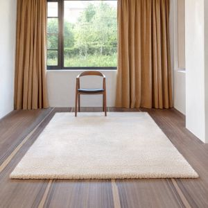 Galaxy 458.01.100 Cream Shaggy Wool Rug by Mastercraft