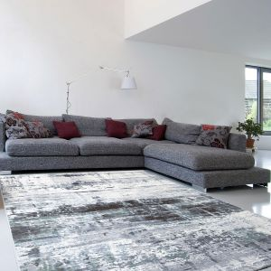 Galleria 063 0378 6656 Slate Grey Abstract Rug By Mastercraft
