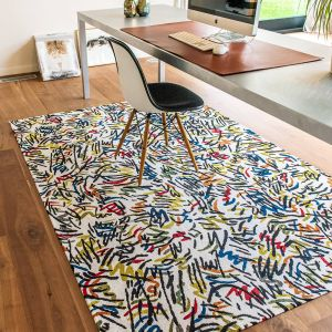 Gallery Graffito 9144 Street Graph Flatweave Rug by Louis De Poortere