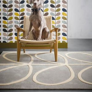 Giant Linear Stem 059404 Wool Rug by Orla Kiely
