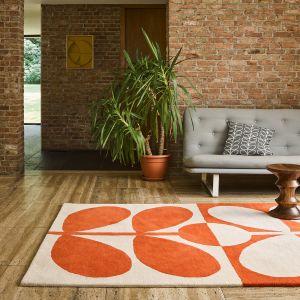 Giant Sixties Stem 060703 Tomato Wool Rug by Orla Kiely