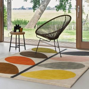 Giant Stem 59205 Multi Wool Rug by Orla Kiely