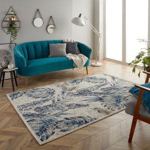 Gilbert 3 W Blue Cream Floral Rug by Oriental Weavers