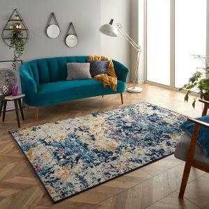 Gilbert 531 B Blue Grey Abstract Rug by Oriental Weavers