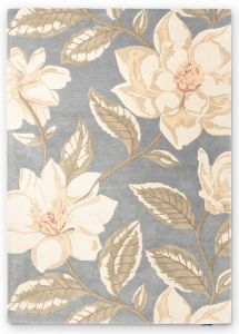 Grandiflora 145604 Grey Floral Rug by Sanderson