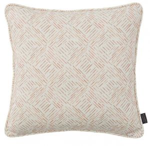 Grassland Russet Abstract Cushion by Claire Gaudion