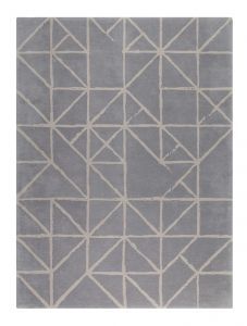 Guernsey Gris Handtufted Wool Rug by Claire Gaudion