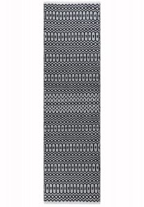 Halsey Black Geometric Runner by  Asiatic