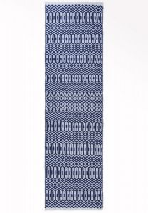 Halsey Blue Geometric Runner by Asiatic