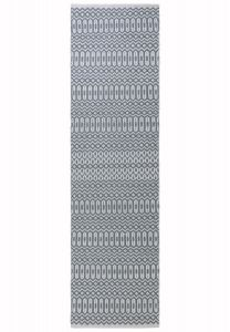 Halsey Duck Egg Geometric Runner by Asiatic